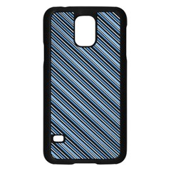 Diagonal Stripes Pinstripes Samsung Galaxy S5 Case (black)