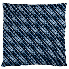 Diagonal Stripes Pinstripes Standard Flano Cushion Case (two Sides)