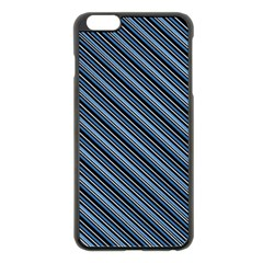 Diagonal Stripes Pinstripes Apple Iphone 6 Plus/6s Plus Black Enamel Case