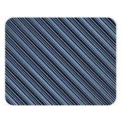 Diagonal Stripes Pinstripes Double Sided Flano Blanket (large)