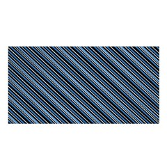 Diagonal Stripes Pinstripes Satin Shawl