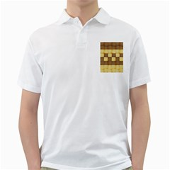 Wood Texture Grain Weave Dark Golf Shirts