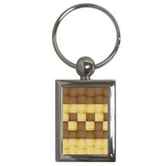 Wood Texture Grain Weave Dark Key Chains (rectangle)