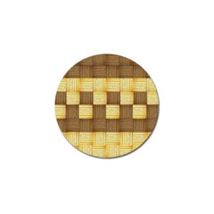 Wood Texture Grain Weave Dark Golf Ball Marker (4 Pack)