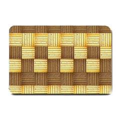 Wood Texture Grain Weave Dark Small Doormat