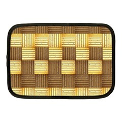 Wood Texture Grain Weave Dark Netbook Case (medium)