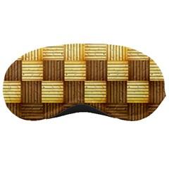 Wood Texture Grain Weave Dark Sleeping Masks