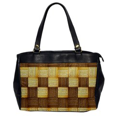 Wood Texture Grain Weave Dark Office Handbags