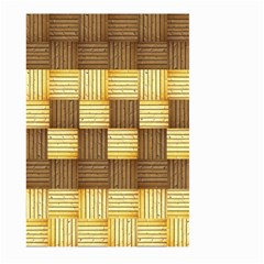 Wood Texture Grain Weave Dark Large Garden Flag (two Sides)