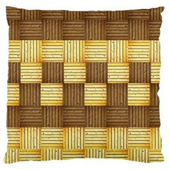 Wood Texture Grain Weave Dark Large Cushion Case (two Sides)