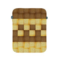Wood Texture Grain Weave Dark Apple Ipad 2/3/4 Protective Soft Cases