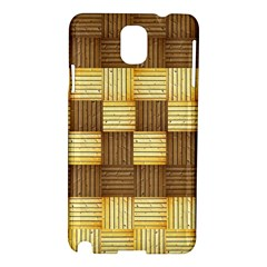 Wood Texture Grain Weave Dark Samsung Galaxy Note 3 N9005 Hardshell Case