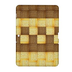 Wood Texture Grain Weave Dark Samsung Galaxy Tab 2 (10 1 ) P5100 Hardshell Case