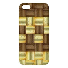 Wood Texture Grain Weave Dark Iphone 5s/ Se Premium Hardshell Case