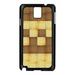 Wood Texture Grain Weave Dark Samsung Galaxy Note 3 N9005 Case (black)