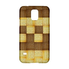 Wood Texture Grain Weave Dark Samsung Galaxy S5 Hardshell Case
