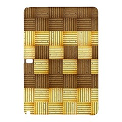 Wood Texture Grain Weave Dark Samsung Galaxy Tab Pro 10 1 Hardshell Case