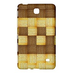 Wood Texture Grain Weave Dark Samsung Galaxy Tab 4 (7 ) Hardshell Case