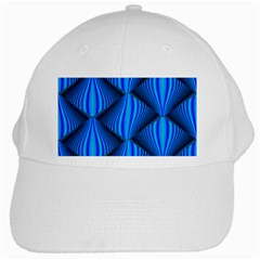 Abstract Waves Motion Psychedelic White Cap
