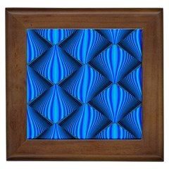 Abstract Waves Motion Psychedelic Framed Tiles