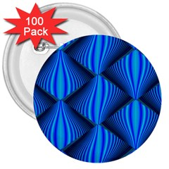 Abstract Waves Motion Psychedelic 3  Buttons (100 Pack)