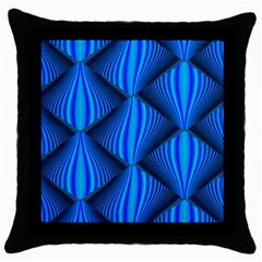 Abstract Waves Motion Psychedelic Throw Pillow Case (black)