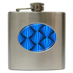 Abstract Waves Motion Psychedelic Hip Flask (6 Oz) by Nexatart