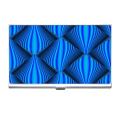 Abstract Waves Motion Psychedelic Business Card Holders