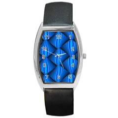 Abstract Waves Motion Psychedelic Barrel Style Metal Watch