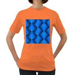 Abstract Waves Motion Psychedelic Women s Dark T Shirt