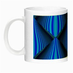Abstract Waves Motion Psychedelic Night Luminous Mugs