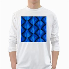 Abstract Waves Motion Psychedelic White Long Sleeve T Shirts