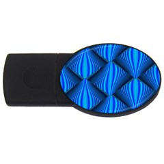 Abstract Waves Motion Psychedelic Usb Flash Drive Oval (4 Gb)