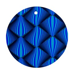 Abstract Waves Motion Psychedelic Round Ornament (two Sides)