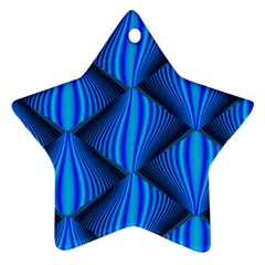 Abstract Waves Motion Psychedelic Star Ornament (two Sides)