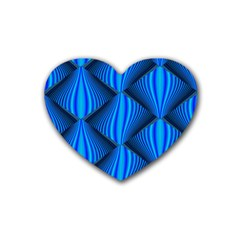 Abstract Waves Motion Psychedelic Heart Coaster (4 Pack)