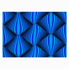 Abstract Waves Motion Psychedelic Large Glasses Cloth