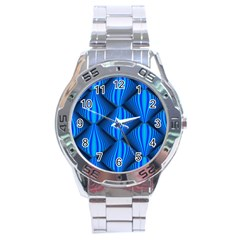 Abstract Waves Motion Psychedelic Stainless Steel Analogue Watch