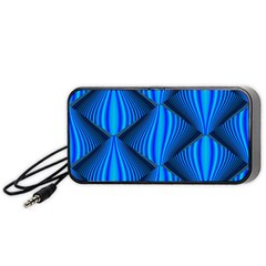Abstract Waves Motion Psychedelic Portable Speaker