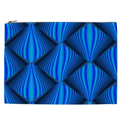 Abstract Waves Motion Psychedelic Cosmetic Bag (xxl)