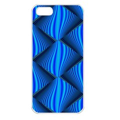 Abstract Waves Motion Psychedelic Apple Iphone 5 Seamless Case (white)