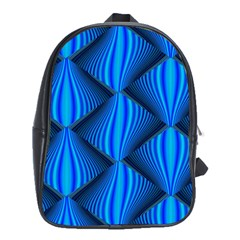 Abstract Waves Motion Psychedelic School Bag (xl)