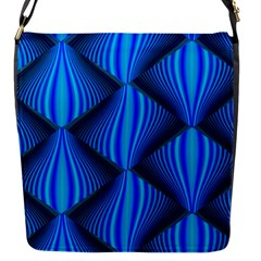 Abstract Waves Motion Psychedelic Flap Messenger Bag (s)