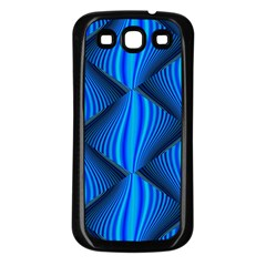 Abstract Waves Motion Psychedelic Samsung Galaxy S3 Back Case (black)