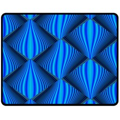 Abstract Waves Motion Psychedelic Double Sided Fleece Blanket (medium)