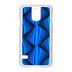 Abstract Waves Motion Psychedelic Samsung Galaxy S5 Case (white)