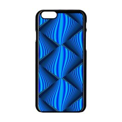 Abstract Waves Motion Psychedelic Apple Iphone 6/6s Black Enamel Case