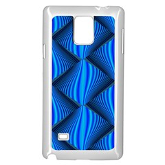 Abstract Waves Motion Psychedelic Samsung Galaxy Note 4 Case (white) by Nexatart