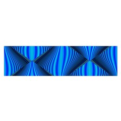 Abstract Waves Motion Psychedelic Satin Scarf (oblong)