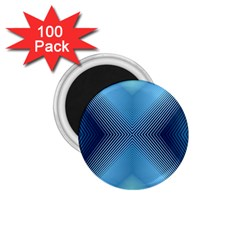 Converging Lines Blue Shades Glow 1 75  Magnets (100 Pack)